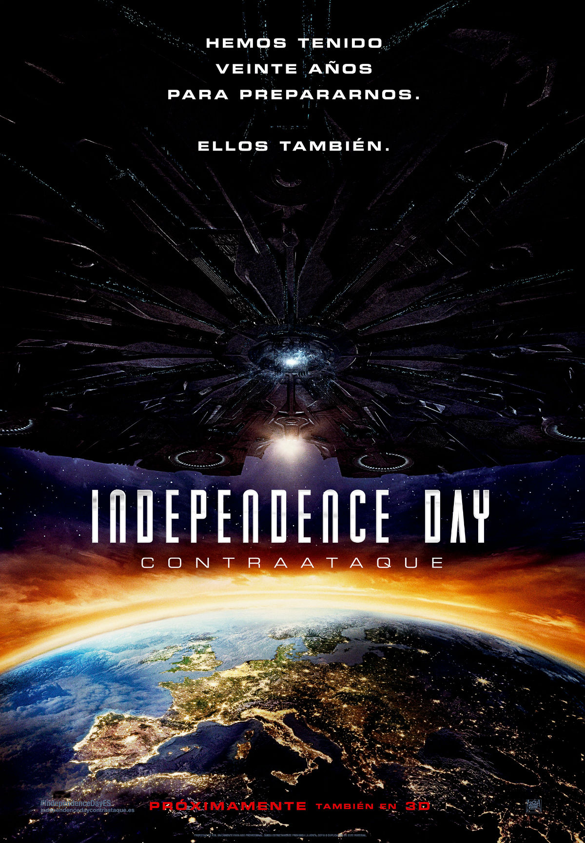 Póster promocional de Independence Day: Contraataque